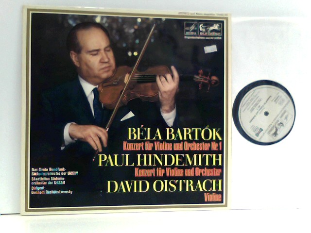 Bartok,  Hindemith,  David Oistrach – Konzert Für Violine Und Orchester Nr. 1 / Konzert Für Violine Und Orchester
