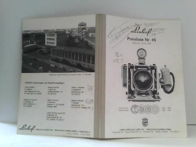 Linhof Preisliste Nr. 45 gültig ab 1. Januar 1968