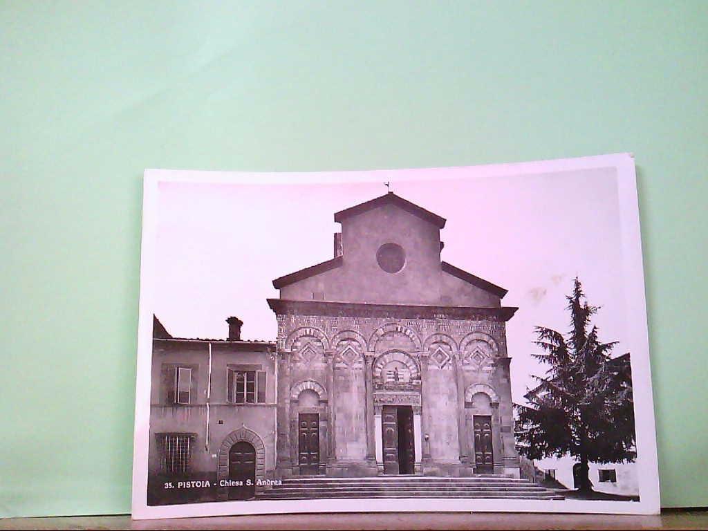 AK Pistoia / Italien, Chiesa S. Andrea, Hauptansicht, Gebäudeansicht.