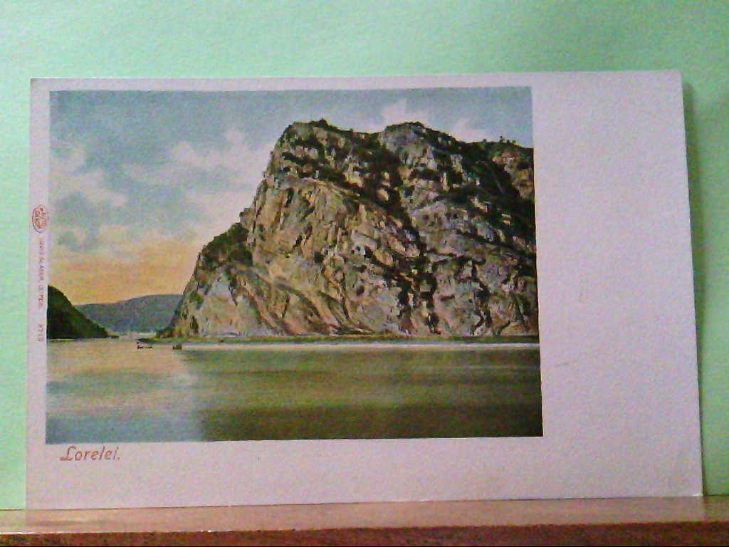 AK St. Goarshausen / Loreley, Lorelei, Auto Chrom, Panoramaansicht