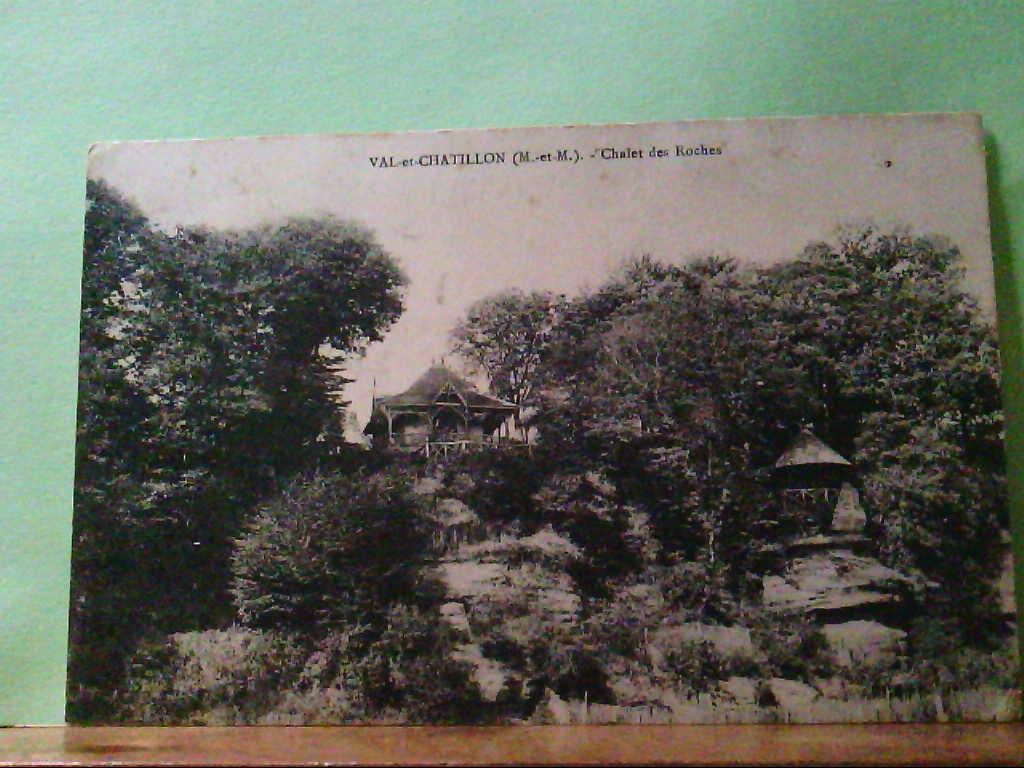 AK Val - et - Chatillon, Frankreich, Chalet des Roches, Panoramaansicht, Feldpostkarte, 1918.
