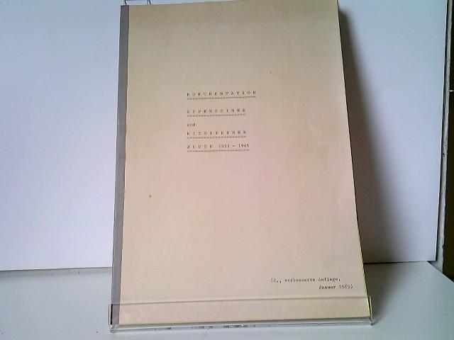Dokumentation der Oppenheimer und Niersteiner Juden 1933-1945 Arbeitsgruppe des Gymnasiums zu St. Katharinen, Oppenheim, unter der Leitung von OStR Kemp 2. verbesserte Auflage