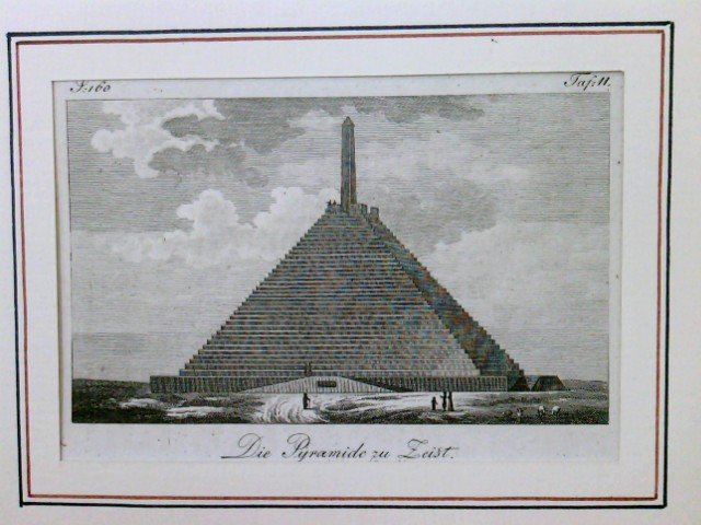 Die Pyramide zu Zeist, Zeist bei Utrecht, Holland, Niederlande, Netherlands. Die Pyramide wurde zum Gedenken an die Drei-Kaiser-Schlacht von 1805 in Austerlitz errichtet,