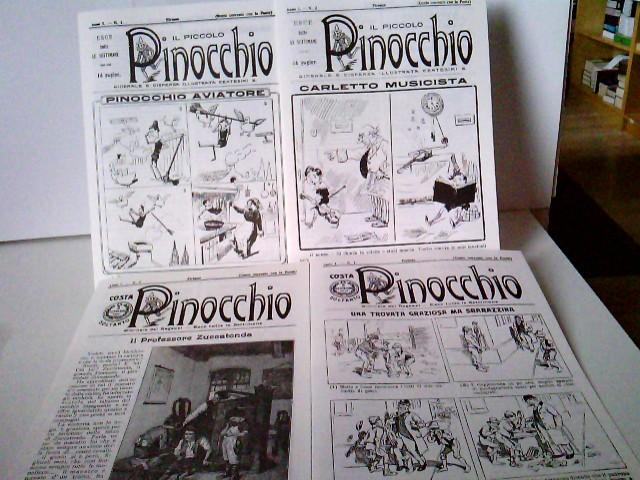 Faksimile reprint - 1) Pinocchio - Giornale dei Ragazzi - Nr. 1 + 2; 2) Il piccolo Pinocchio - Giornale dispensa illustrata centesimi - Nr. 3 + Nr. 4