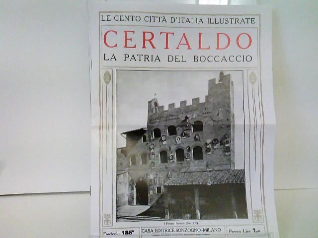 """Faksimile Reprint von """"Certaldo - La patria del Boccaccio"""", Le Cento Città d"""