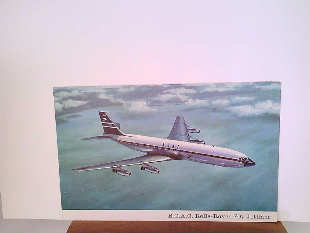 AK. Künstler - AK. Flugzeug. B.O.A.C. Rolls Royce.