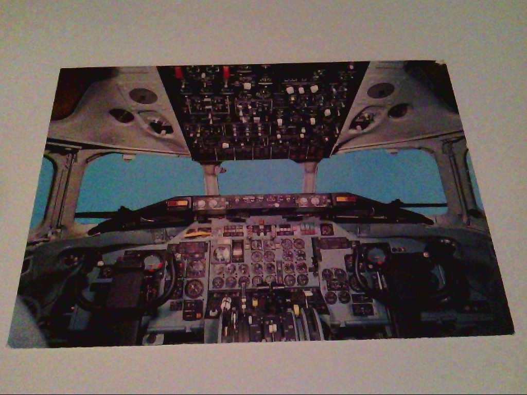 AK. Flugzeug. Cockpit. Swissair.