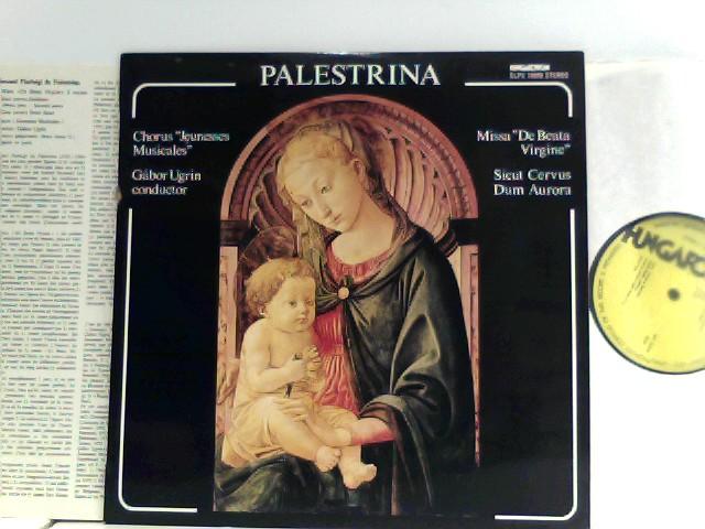"""Palestrina*,  Gábor Ugrin*,  Chorus """"Jeunesses Musicales""""*  – Missa """"De Beata Vergine"""" / Sicut Cervus / Dum Aurora"""
