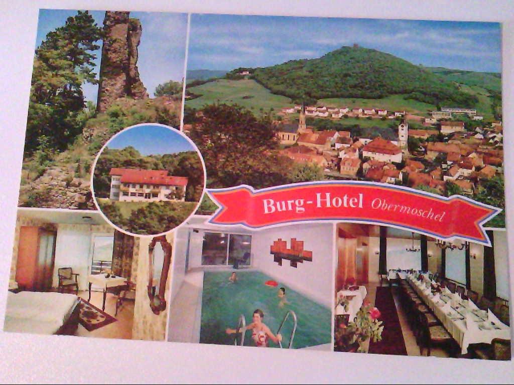 AK. Burg-Hotel Obermoschel. Mehrbild. Panoramablick.