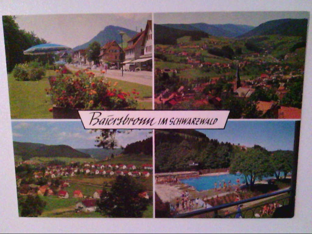 AK. Baiersbronn im Schwarzwald. Mehrbildkarte mit 4 Abb.