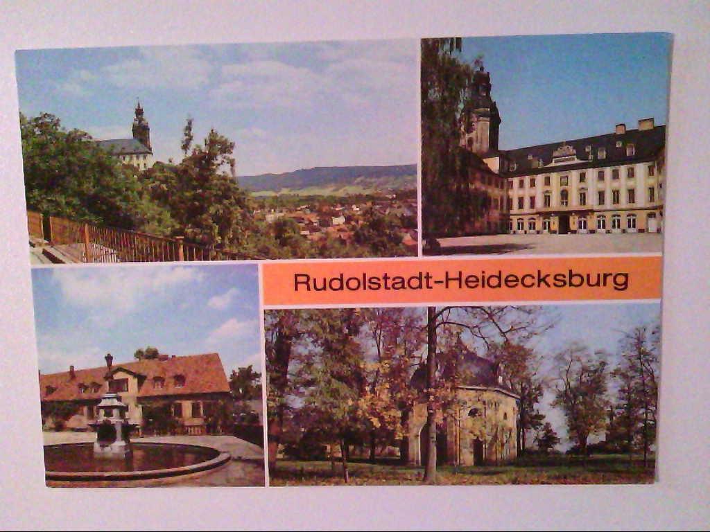 AK. Rudolstadt-Heidecksburg. Mehrbildkarte mit 4 Abb.