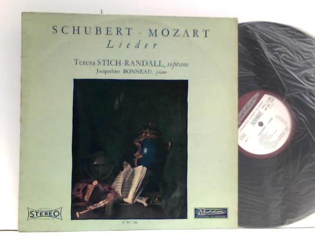 Schubert* •  Mozart*,  Teresa Stich-Randall,  Jacqueline Bonneau  – Lieder