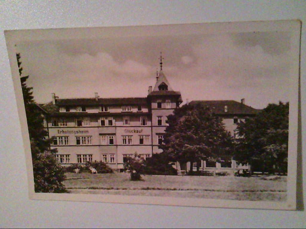 "AK. Oberhof/Thüringen. FDGB-Erholungsheim ""Glück auf"". s/w."
