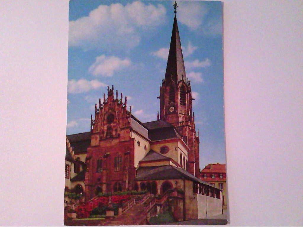 AK. Aschaffenburg. Partie an der Stiftskirche.