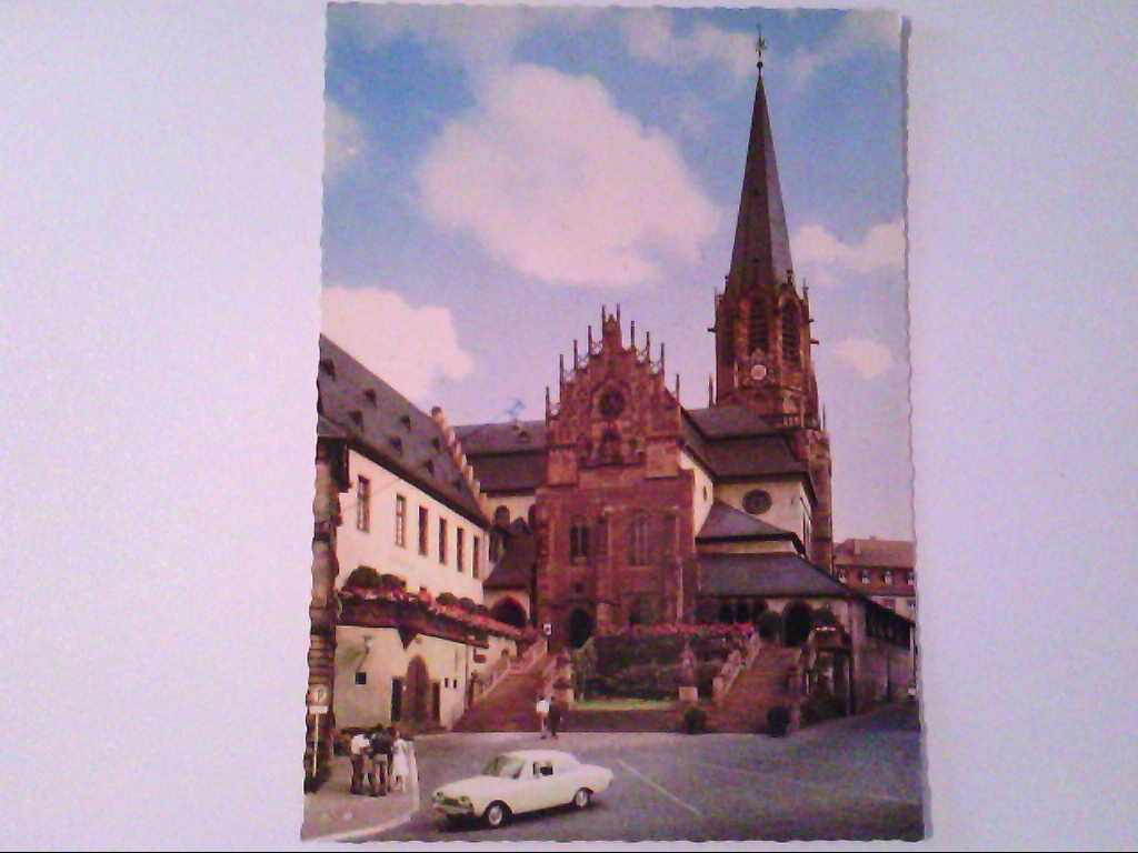AK. Aschaffenburg. Partie an der Stiftskirche St.Peter.