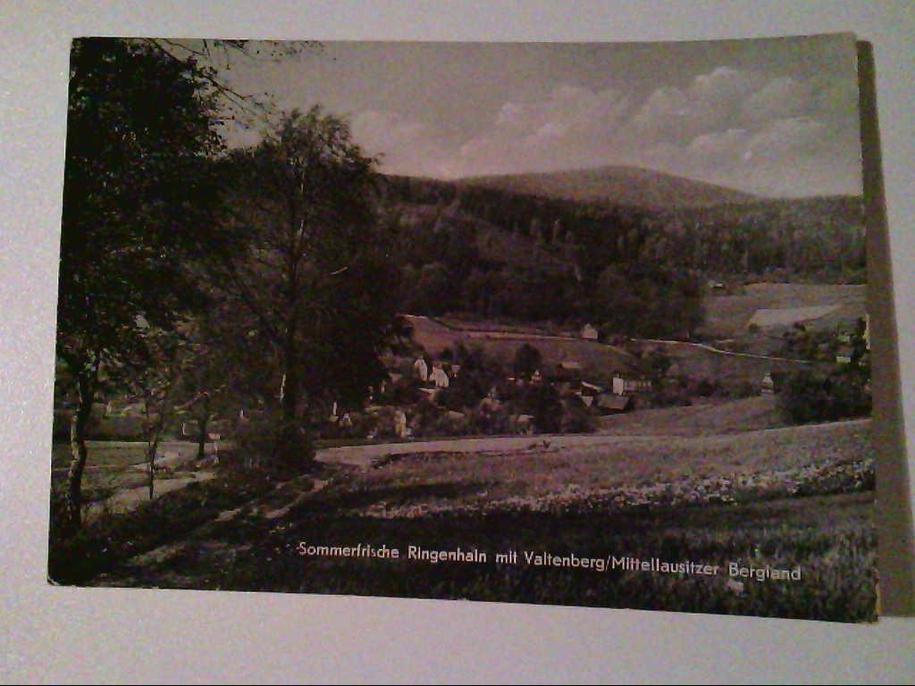 AK. Sommerfrische Ringenhain. Valtenberg/Mittellausitzer Bergland. s/w.