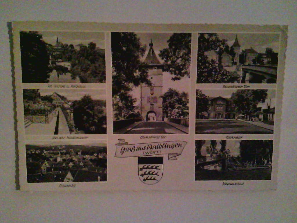 AK. Waiblingen. Mehrbildkarte mit 7 Abb. s/w.
