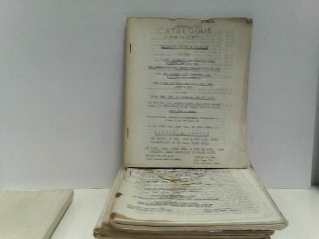 o.A.: Konvolut von 10 Auktionskatalogen Wallis & Wallis (sale 69 - 77), 1960
