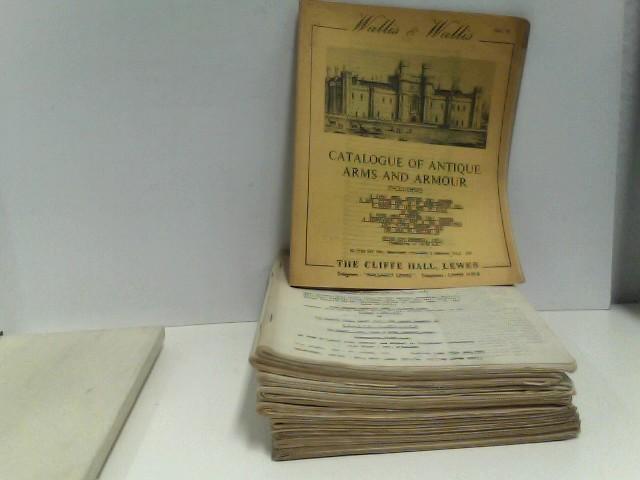 Konvolut von 10 Auktionskatalogen Wallis & Wallis (sale 78 - 87), 1961