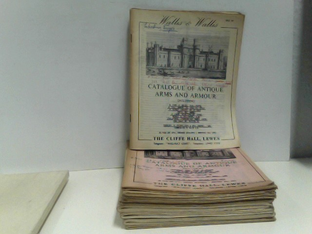 Konvolut von 10 Auktionskatalogen Wallis & Wallis (sale 88 - 97), 1962