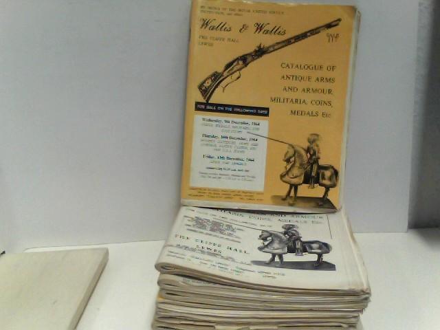 o.A.: Konvolut von 14 Auktionskatalogen Wallis & Wallis (sale 137,138,142) 1967, (sale 192 - 198) 1973, (sale 199 - 202) 1974