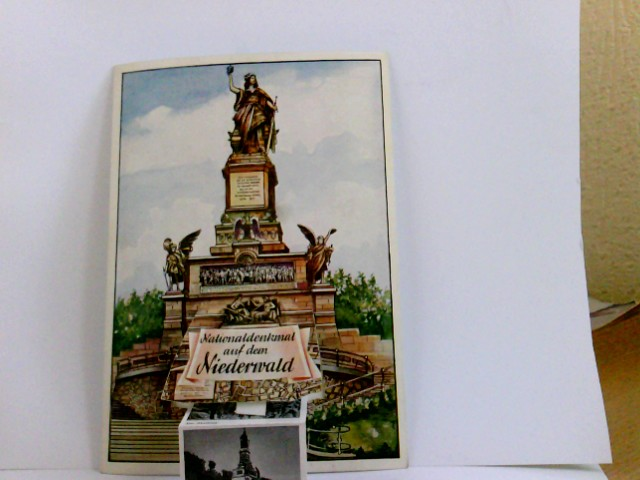 AK Nationaldenkmal auf dem Niederwald. Leporello mit 10 Ansichten rund um das Niederwalddenkmal und Rüdesheim.