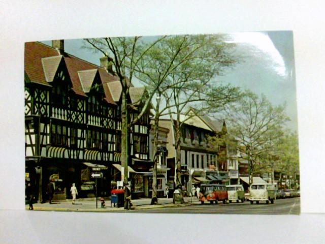 AK Princeton New Jersey. Nassau Street. Straßenpartie, Bullys, Geschäfte, Passanten