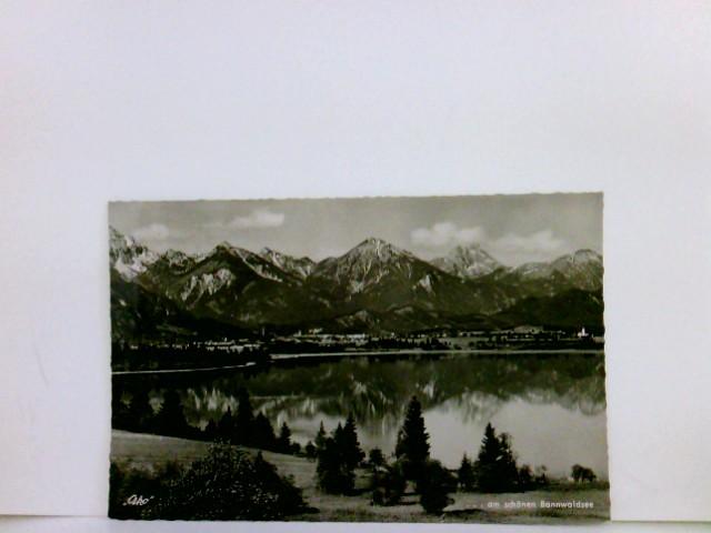 AK Am Bannwaldsee bei Füssen, Allgäu. Seeblick, Ortsansicht, Berpanorama