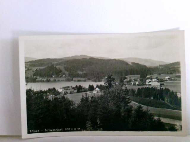 AK Titisee Schwarzwald. Seeblick, Ortsansicht, Panoramablick
