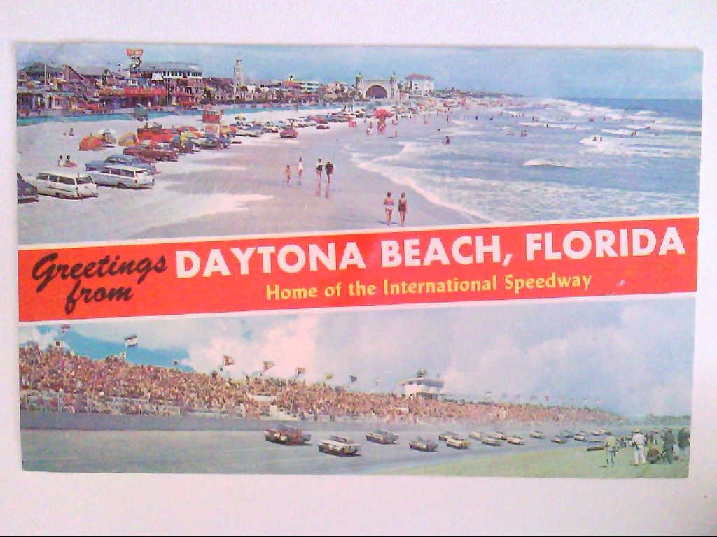 AK. Daytona Beach, Florida. Zweibildkarte.