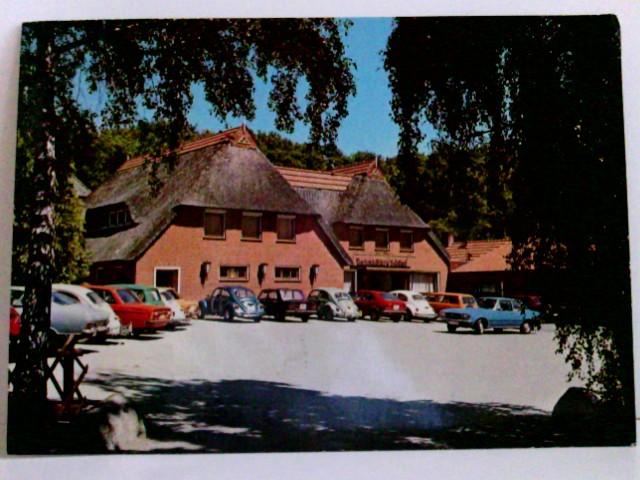 AK Backenköhlers Gasthof. Ganderkesee. Stenum. Gebäudeansicht, Parkplatz, Alte Autos