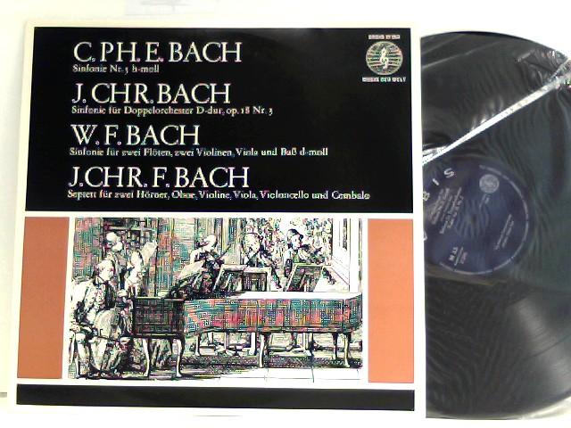 J.Chr. Bach*, W.F. Bach*, J.Chr.F. Bach*, Das Mainzer Kammerorchester*, Günter Kehr – Sinfonie Nr. 5 H-moll - Sinfonie Für Doppelorchester D-dur, Op. 18 Nr. 3 - Sinfonie Für Zwei Flöten, Zwei Violinen, Viola Und Baß D-moll - Septett Für Zwei Hörner, Oboe, Violine, Viola, Violoncello Und Cembalo