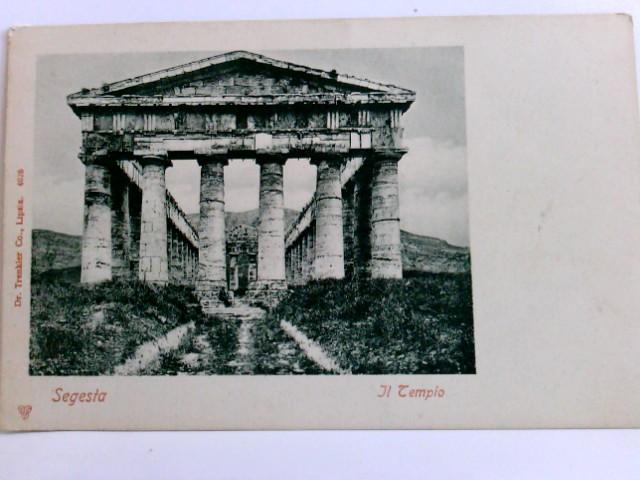 AK Segesta. Il Tempio. Hera-Tempel, Ligurien, Gebäudeansicht, Italien
