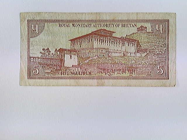 Bhutan, 5 Ngultrum, Banknote