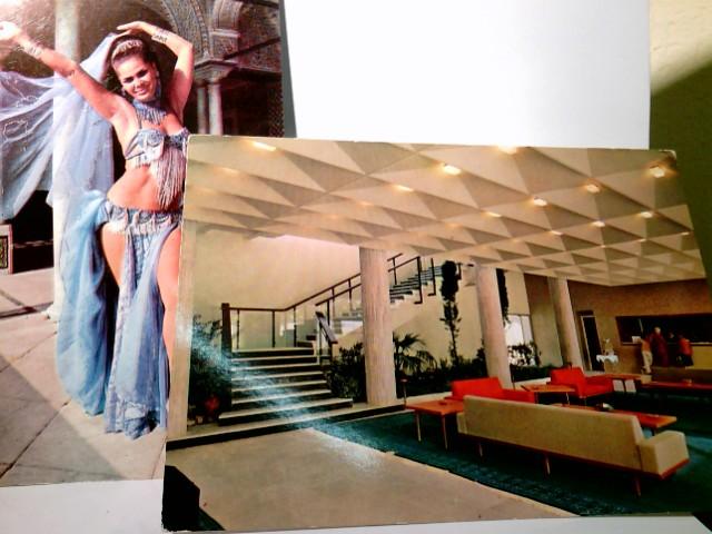 Set 2x AK Tunesien. 1 x Djerba. L´Ulysse Palace, Sa réception. 1 x Tunisia Ahlem, an Oriental dancer.