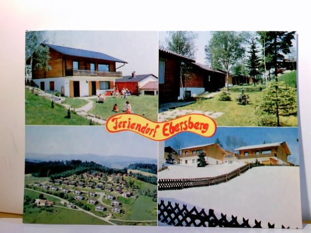 Mehrbild AK Feriendorf Ebersberg. Urlaub im Bayer. Wald. Otterskirchen / Ebersberg. Gebäudeansichten, Panoramablick, Winterlandschaft