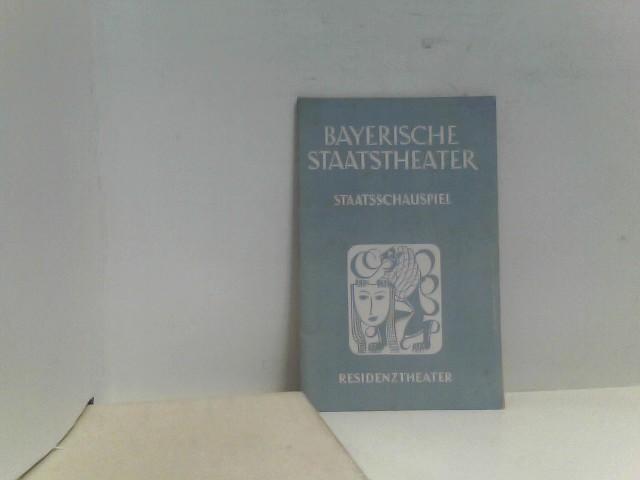 o.A.: Bayerische Staatstheater Staatsschauspiel Residenztheater 1952/52
