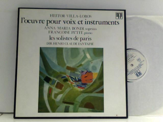 Les Solistes De Paris , Dir. Henri-Claude Fantapié – L'Œuvre Pour Voix Et Instruments