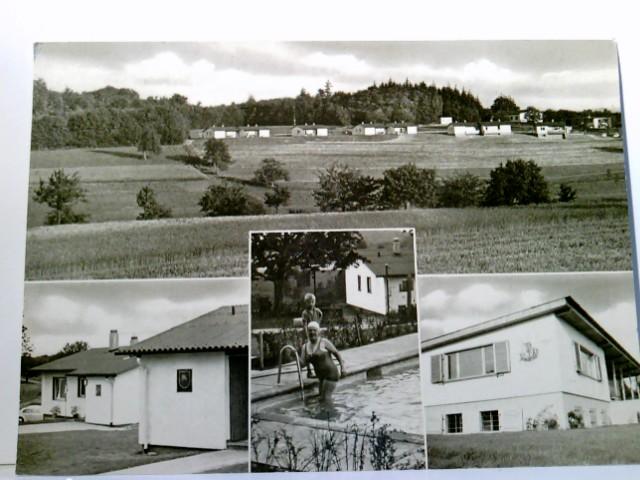 Mehrbild AK Ev. Familien- u. Jugendfreizeitstätte Rührberg / Wyhlen. Gebäudeansicht, Panoramablick, Ferienanlage, Swimmingpool mit Frau und Kind