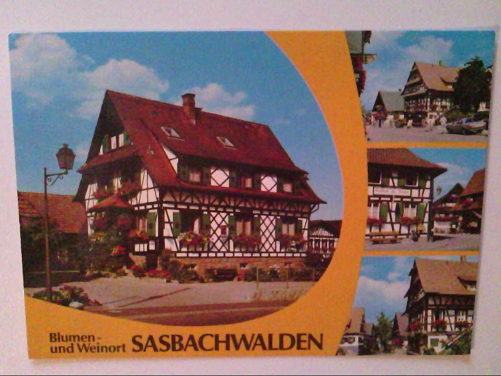 AK. Sasbachwalden. Fachwerkhäuser. Mehrbildkarte mit 4 Abb.