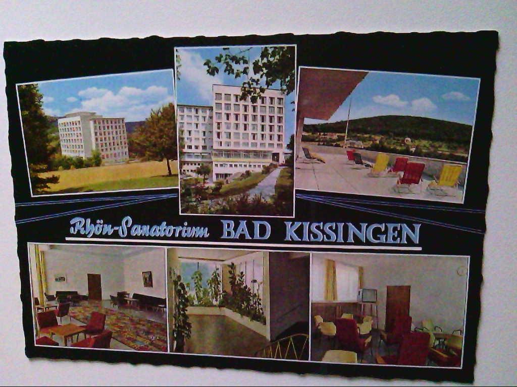 AK. Rhön-Sanatorium. Bad Kissingen. Mehrbildkarte mit 6 Abb.