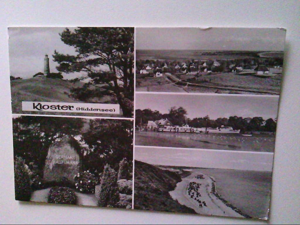 AK. Kloster, Hiddensee. Mehrbildkarte mit 5 Abb. s/w.