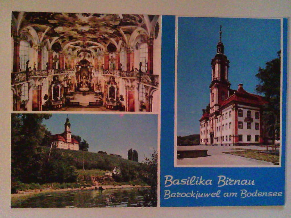 AK. Basilika Birnau. Bodensee. Mehrbildkarte mit 3 Abb.