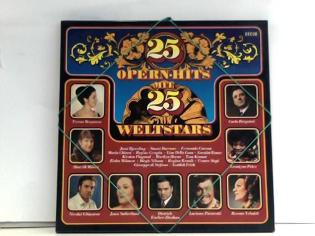 Various: 25 Opernhits mit 25 Weltstars - teresa berganza, carlo bergonzi, jussi bjoerling