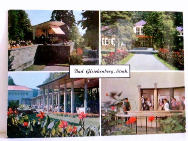 Mehrbild AK Bad Gleichenberg. Steiermark. Kurhaus, Kurpark, Brunnen, Kurkonzert, Personen, Österreich