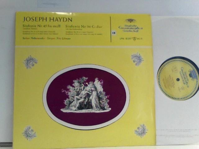 Haydn, Joseph: Berliner Philharmoniker ·  Fritz Lehmann  – Sinfonie Nr. 45 Fis-moll / Sinfonie Nr. 94 G-Dur