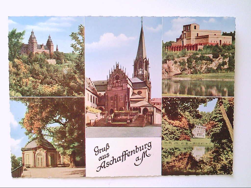 AK. Aschaffenburg a. M. Mehrbildkarte mit 5 Abb.
