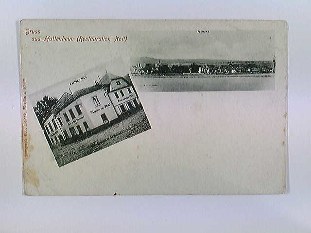 Hattenheim, Restauration Noll, Eltville, AK, ungelaufen