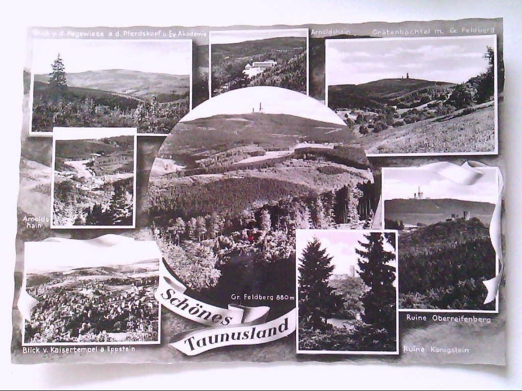 AK. Taunusland. Mehrbildkarte mit 8 Abb. Echt Photo. s/w.
