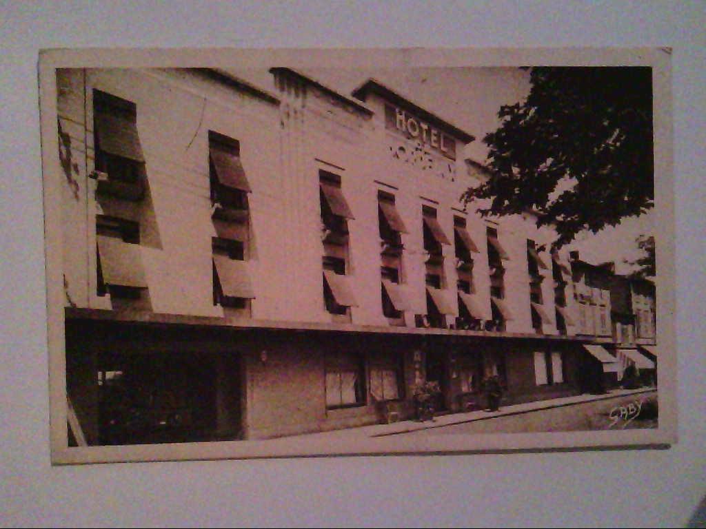 """AK. Hotel """" Bordeaux """". Bergerac. Frankreich. s/w."""